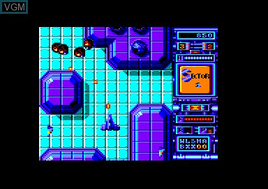 In-game screen of the game Xenon on Amstrad CPC