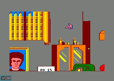 In-game screen of the game Yes Prime Minister on Amstrad CPC