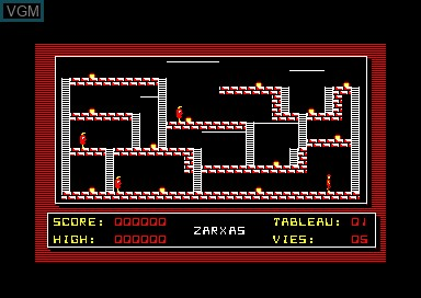 In-game screen of the game Zarxas on Amstrad CPC