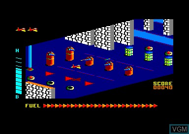 In-game screen of the game Zaxx on Amstrad CPC