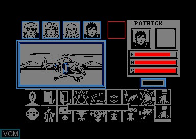 In-game screen of the game Zombi on Amstrad CPC