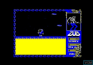In-game screen of the game Zub on Amstrad CPC