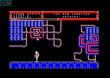 In-game screen of the game Back to Reality on Amstrad CPC
