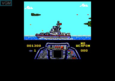 In-game screen of the game F-1 Tornado Simulator on Amstrad CPC