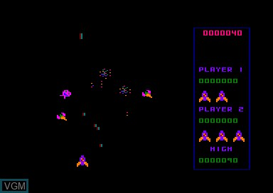In-game screen of the game Galactic Plague on Amstrad CPC