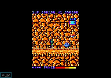 In-game screen of the game Galivan on Amstrad CPC