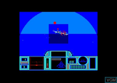 In-game screen of the game G-Loc on Amstrad CPC