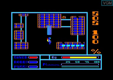 In-game screen of the game S.O.S. 100 on Amstrad CPC