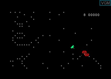 In-game screen of the game S.O.S. Ovoides on Amstrad CPC