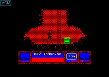 In-game screen of the game Saboteur 2 on Amstrad CPC