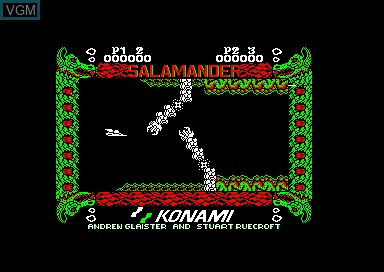 In-game screen of the game Salamander - Nemesis 2 on Amstrad CPC