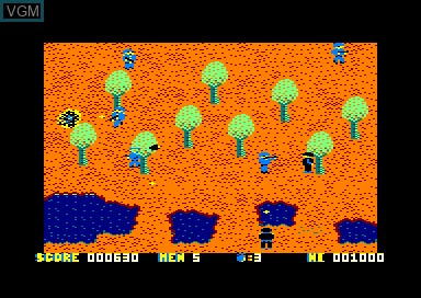 In-game screen of the game Who Dares Win 2 on Amstrad CPC