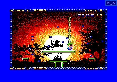 In-game screen of the game Zap't'balls on Amstrad CPC