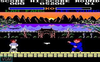 In-game screen of the game Yie Ar Kung Fu 2 on Amstrad CPC