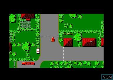 In-game screen of the game 1942 & Bedlam & Ikari Warriors & Street Machine on Amstrad CPC