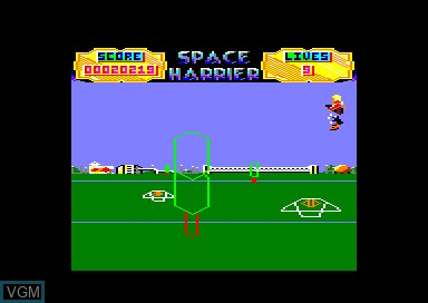 In-game screen of the game 1942 & Commando & Kong Strikes Back & Space Harrier on Amstrad CPC
