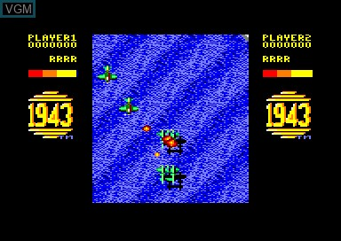 In-game screen of the game 1943 & Commando & Green Beret on Amstrad CPC