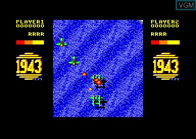 In-game screen of the game 1943 & Daley Thompson's Decathlon & Titus Classiques I on Amstrad CPC