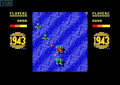 In-game screen of the game 1943 & Venom Strikes Back on Amstrad CPC