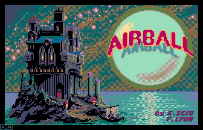 Title screen of the game Airball on Apple II GS
