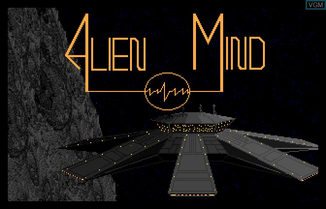 Title screen of the game Alien Mind on Apple II GS