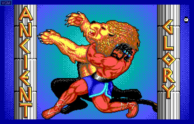 Title screen of the game Ancient Glory on Apple II GS