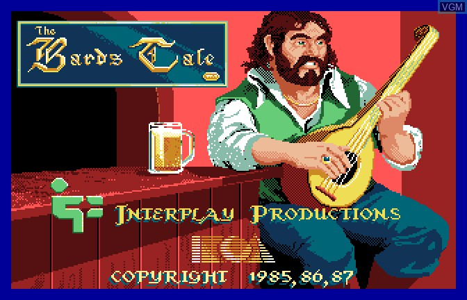 Title screen of the game Bard's Tale - Tales of the Unknown, The on Apple II GS