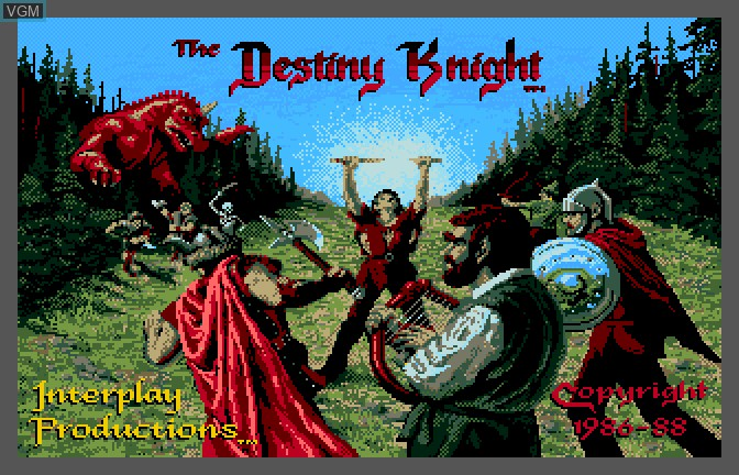 Title screen of the game Bard's Tale II - The Destiny Knight, The on Apple II GS