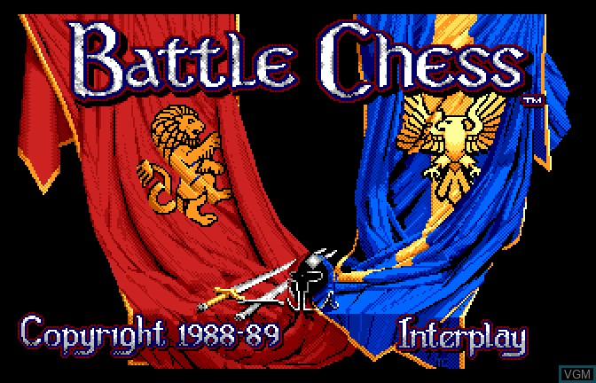 Title screen of the game Battle Chess on Apple II GS
