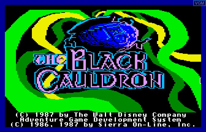 Title screen of the game Black Cauldron, The on Apple II GS