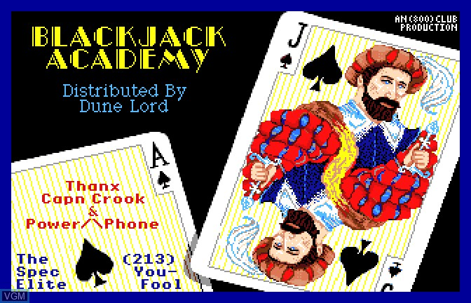 Title screen of the game Blackjack Academy on Apple II GS