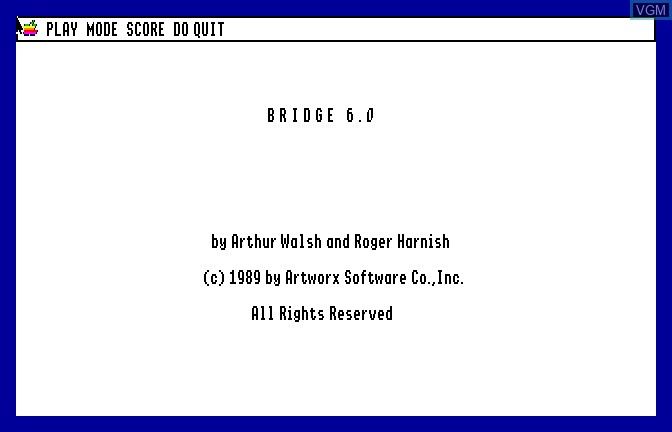 Title screen of the game Bridge 6.0 - Your Bid For Entertainment on Apple II GS