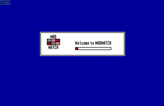 Title screen of the game Mad Match on Apple II GS