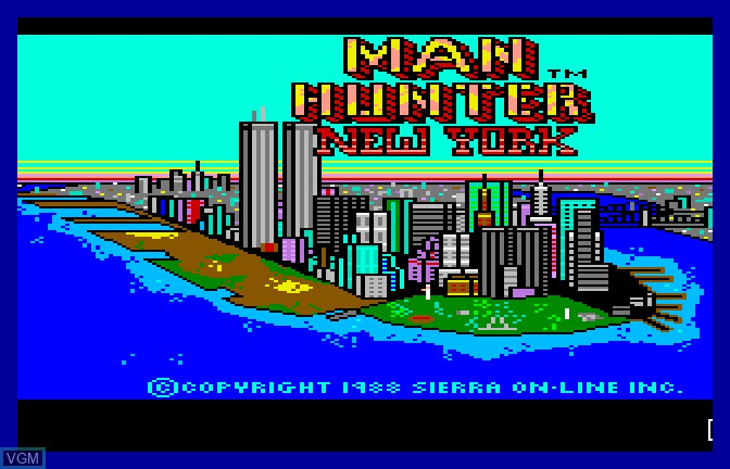 Title screen of the game Manhunter - New York on Apple II GS