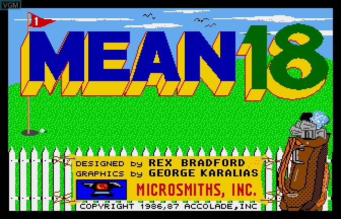 Title screen of the game Mean 18 - Famous Courses Volume 2 on Apple II GS