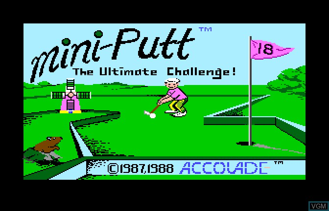 Title screen of the game Mini Putt - The Ultimate Challenge on Apple II GS