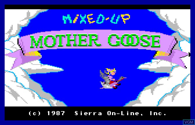 Title screen of the game Mixed Up - Mother Goose on Apple II GS