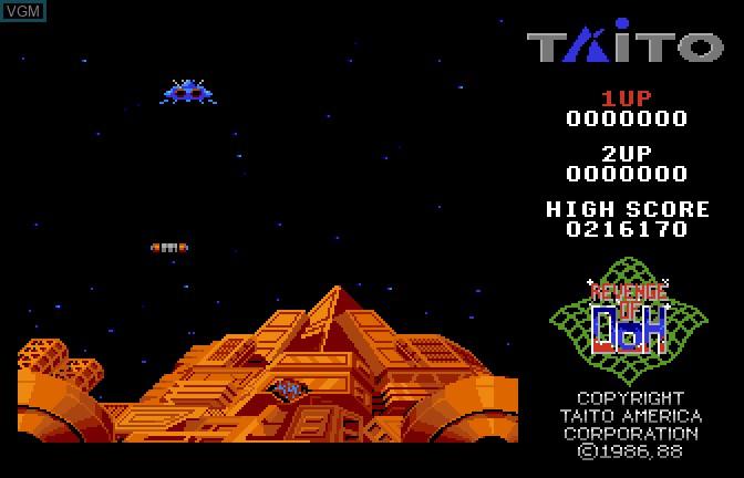 Menu screen of the game Arkanoid II - Revenge of Doh on Apple II GS