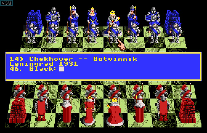 Menu screen of the game Battle Chess on Apple II GS