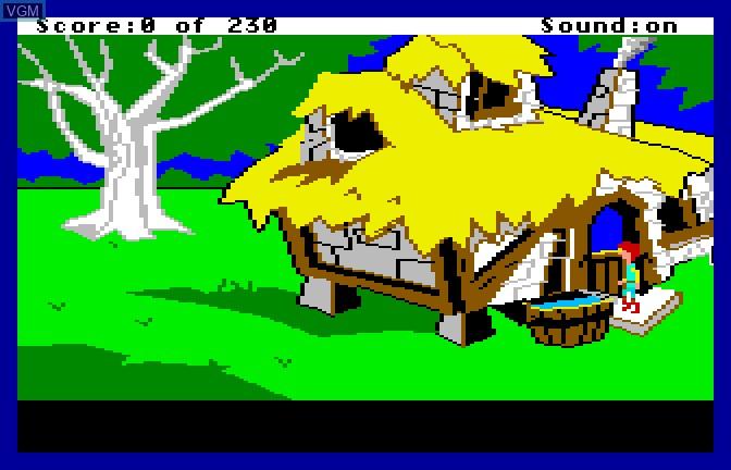 Menu screen of the game Black Cauldron, The on Apple II GS