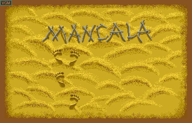 Menu screen of the game Mancala on Apple II GS