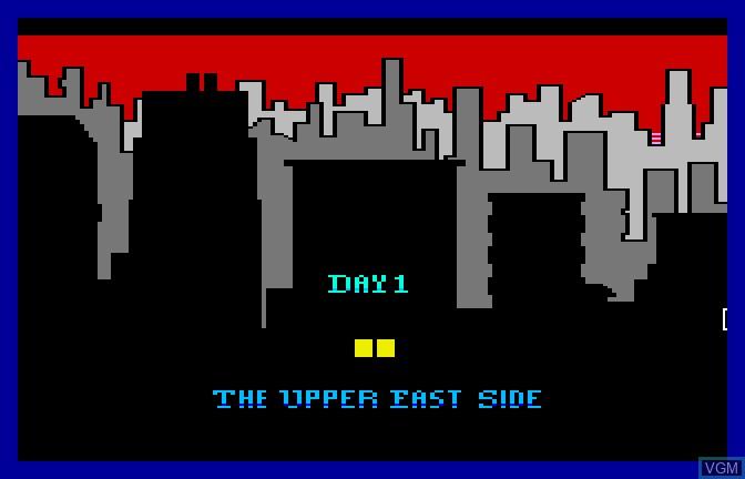 Menu screen of the game Manhunter - New York on Apple II GS