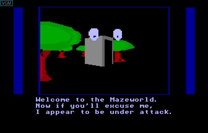 Menu screen of the game Mazer II on Apple II GS