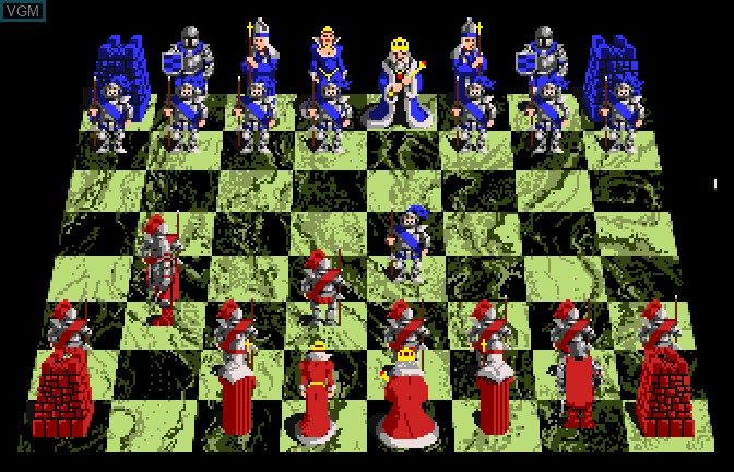In-game screen of the game Battle Chess on Apple II GS