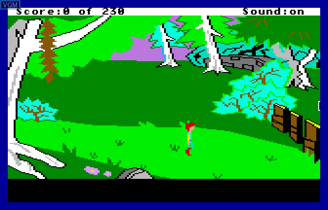 In-game screen of the game Black Cauldron, The on Apple II GS