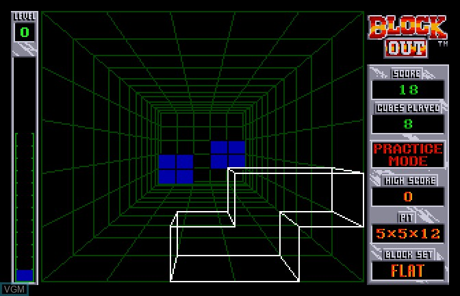 In-game screen of the game Block Out on Apple II GS