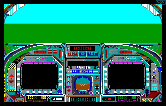 In-game screen of the game Blue Angels on Apple II GS