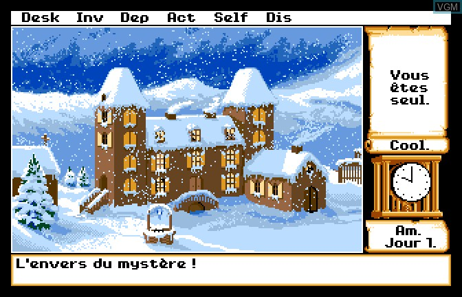In-game screen of the game Manoir de Mortevielle, Le on Apple II GS