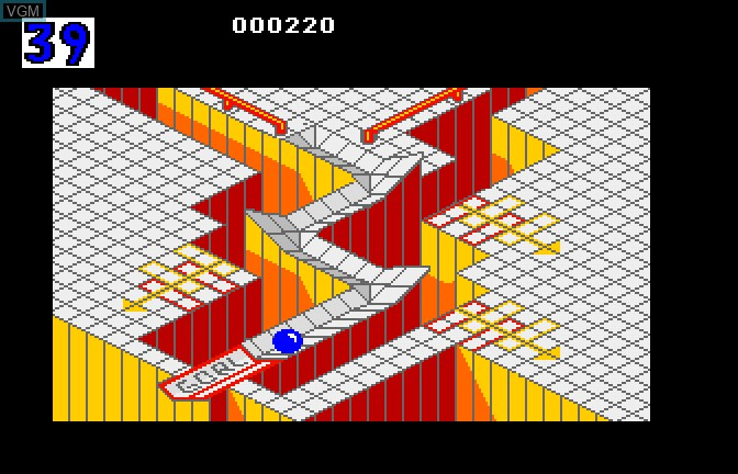 In-game screen of the game Marble Madness on Apple II GS