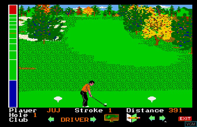 In-game screen of the game Mean 18 - Famous Courses Volume 2 on Apple II GS